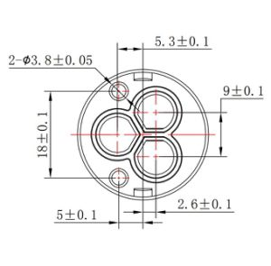 26mmのダイバーターの3つの機能(YLD25-06)の陶磁器のバルブ・コア