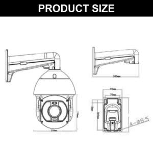LED de laser 8.0MP 300mm Sony IMX226 IP caméra PTZ