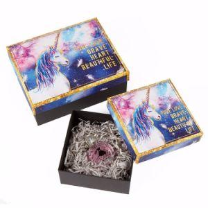 Caixa de jóias de papel de luxo personalizado embalagem visor caixa de oferta