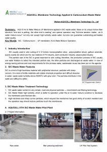 Оф Aqucell мембраны/1500ntu сточных вод без Pre-Treatment