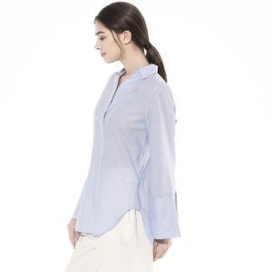 Nouvelle Blouse Mesdames fashion Tops, couleur pure bonne Vêtements de loisirs de tissu pour l'été /l'automne