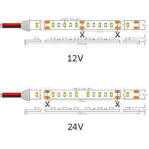 Indicatore luminoso di striscia di Istruzione Autodidattica 90 24V IP20 LED di Osram 3014 120LEDs/M 19.2W/M del Ce dell'UL