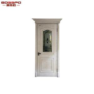 緩和されたガラス(GSP3-044)が付いている贅沢な純木の寝室のドア
