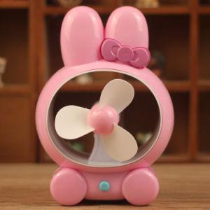 Netter Kaninchen-Universalgroßhandelsstummer USB-aufladenventilator