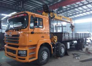 ローディングクレーンが付いているShacman 8*4のトラックトラック取付けられたクレーン12トンの