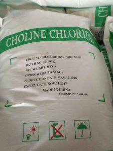 De Basis van de Grondstof van het Voer van het gevogelte/van de MAÏSKOLF van het Chloride van de Choline