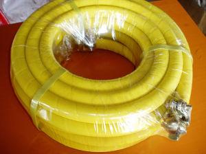 De gele RubberSlang van de Lucht met weefde Oppervlakte
