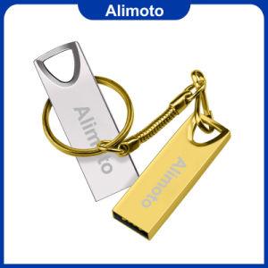 Высокая скорость и реальных возможностей USB 3.0 тонкий металлический флэш-накопитель USB с цепочки ключей