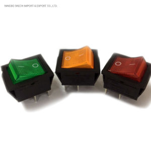 16 а DPST, монтаж на панели, неоновый переключатель с подсветкой, 4 контакта/6 контактов 2-позиционный кулисный переключатель для домашнего устройства (KCD4)
