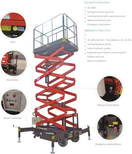 Elevador de tesoura econômica autopropelidos com Max Platform (6m)