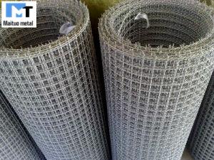 Malla de alambre de acero inoxidable engastado Roll 10-30m/rollo