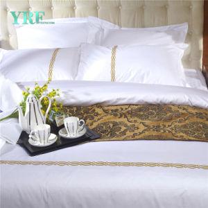100%年の綿のホテルのリネン白いホテルのツイン・ベッドシート
