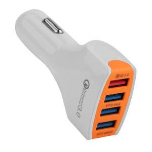 速い充電器4USB車の充電器5V3.5A/9V1.8A/12V1.7Aは充電器QC3.0車の絶食する