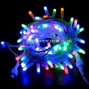 Im Freien der Farben-Erdbeere-LED feenhafte Zeichenkette-Beleuchtung Weihnachtsdes licht-LED