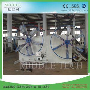 PVC/plástico HDPE/PPR/tubo de Pert/tubo/manguera Estación Doble Coiler Winder que hace la máquina