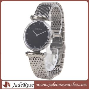 Fashion Lady Wacthes Quartz d'acier, d'argent montre-bracelet de diamants de la bande