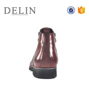 人のための最もよい品質のジッパーのレザー・ブーツハンドメイドメンズ靴