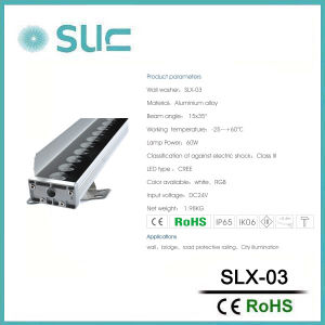 60W景色の照明(Slx-03)のための屋外LEDの壁の洗濯機ライト