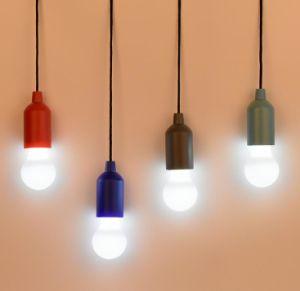 LED de plástico Retro portátil puxe o bebé Christma Luz noturna