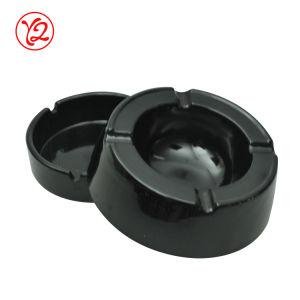 Aujourd'hui en plastique dur SGS pour la restauration de fumer ensemble cendrier noir brillant