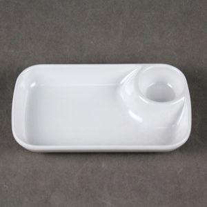 Hot Sale de la mélamine plaque DIP en plastique de couleur blanche, plaque de la mélamine divisé