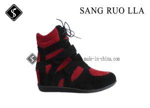 Damas Casual de alta calidad zapatos cómodos con el aumento en el talón