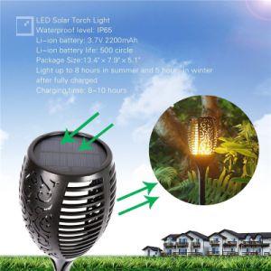 Глобальный путь восхода сад стены мерцание освещения открытый 96 светодиодный индикатор пламени солнечной энергии