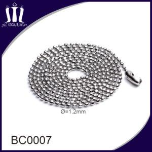 ketting van de Parel van de Bal van het Roestvrij staal van 1.5mm de Kleine