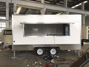 Rimorchio mobile esterno della cucina di vetro di fibra degli alimenti a rapida preparazione con il piccolo chiosco di vendita dell'alimento