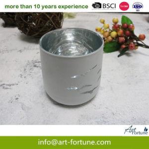 Suporte para velas de vidro com spray Externo e Interno Electroplated