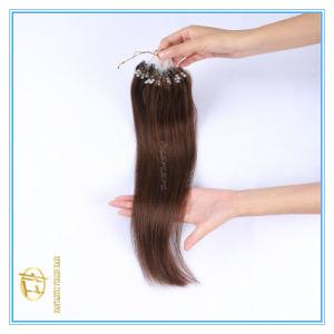 Kundenspezifische Farben-Qualitäts-Doppeltes gezeichnete Mikroring-Extensions-Haare mit Fabrik-Preis Ex-027