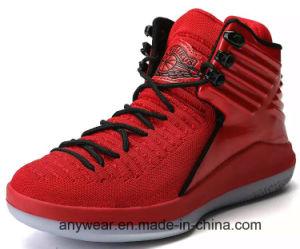 Nuevo diseño de los hombres Tbh Deportes zapatillas de baloncesto con Flyknit superior (331)