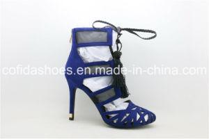 Le plus récent femmes sexy haut talon sandale avec de charmantes Tessels