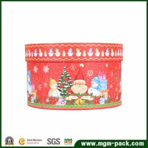 Papel decorativo redondo Caja de regalo de Navidad
