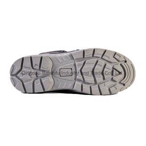 よい販売の鋼鉄つま先の帽子の革注入PUの唯一の安全靴