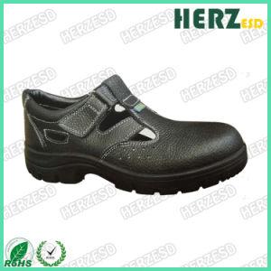Puntera cuero PU ESD antiestática Zapatos de seguridad