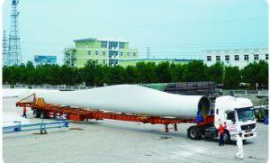 Mais de 20 metros do eixo de direção extensível a energia eólica Trialer Cama plana