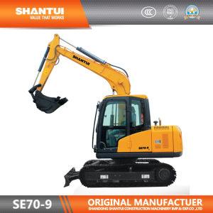 O fabricante oficial Shantui 7t escavadora de rastos (SE70-9/Motor Kubota)