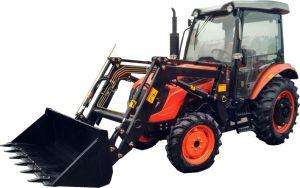 4WD 60HP Tractor met 4 wielen (SH604C) met de Lader van het VoorEind