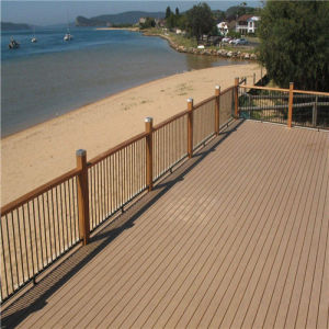 140*25mm piso composto de plástico Madeira Exterior Deck WPC