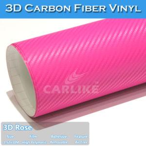 Aire de alta calidad libres para coche envolviendo el vinilo de fibra de carbono 3D