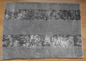 Рисовая лапша Chenille ванной ковер: Iridescent бирюза без пробуксовки колес ванны коврик (20 X 30 дюймов)