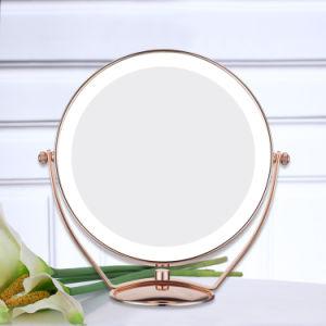LED de 8 pouces Table miroir de maquillage avec le design de mode