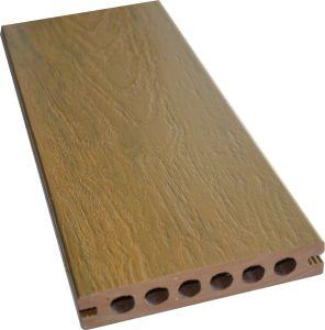 ASA-PVCの共押出しWPC景色はフロアーリングの空の木製のプラスチック合成のDeckingを材木で支える