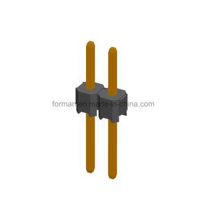 2,54 mm pino tipo DIP da plataforma da série S com 2 pinos de fileira única Gold 3u Ensacagem PE LCP