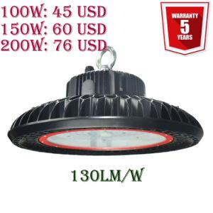 Meanwell conductor 100W/150W/200W/240W/300W almacén industrial de la luz de la Bahía de LED de alta con 5 años de garantía.