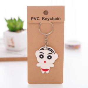 Baratos personalizados delicado Llavero PVC blando con tarjeta