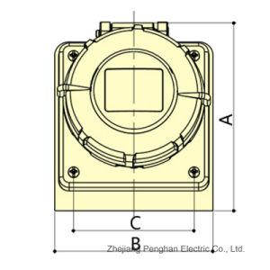 Élevé - fin mur - Monté industriels IP67 3p 4p 5P Ampère16une socket