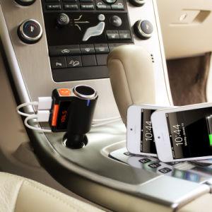 Kit coche Bluetooth con transmisor FM USB Cargador coche reproductor de MP3 Compatible con USB SD Manos Libres Inalámbrico