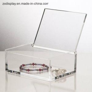 De hoge Acryl Duidelijke Doos van de Gift van de Opslag van Juwelen Qualtity met Deksel